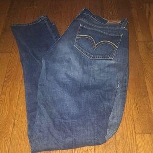 Levi's jeans 524 super low 13 long